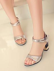 Women's Shoes  Stiletto Heel Open Toe Sandals Office & Career/Dress Black/Blue/Pink/Red/Silver/Gold