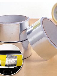 45 milímetros rolo de adesivo de folha de alumínio prata vedação aquecimento fita adesiva (cor aleatória)