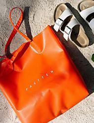 Damen - Beutel - PU - Shopper - Orange