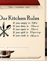 cuisine stickers muraux murale de style de décalcomanies règles mots anglais&cite muraux PVC autocollants
