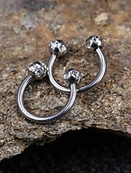 Jóias de Sobrancelha/Labret, Lip Piercing Jewelry/Navel & Bell Button Rings/Anéis e Brincos de Nariz/Anéis de Mamilo/Ear Piercing (Aço