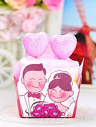 1 Pack 2 Pink Love Heart Shaped Hand Towel Toppers Weddings Anniversary Gift (Random Color)