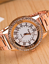 Women's Round Dial Case Alloy Watch Brand Fashion Quartz Watch Cool Watches Unique Watches