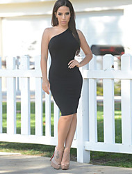 Women's Sexy Bodycon One Shoulder Backless Dress