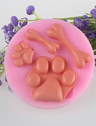 Bone Feet  Fondant Cake Chocolate Silicone Mold, Decoration Tools Bakeware