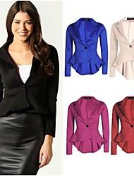 Women's Work Opaque Long Sleeve Short Blazer (Spandex/Elastic)