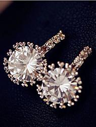 Stud Earrings Zircon Cubic Zirconia Simulated Diamond Alloy Luxury Jewelry Gold Jewelry 2pcs