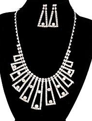 jóias de cobre prata moda longa queda totalmente strass jogo 12