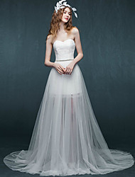 Sheath/Column Wedding Dress-Short/Mini Sweetheart Lace