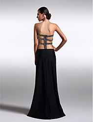 TS Couture Prom Formal Evening Dress - Beautiful Back Sheath / Column Strapless Floor-length Knit with Beading