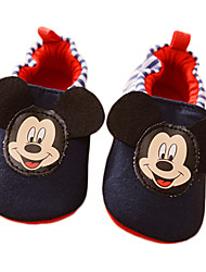 Baby Boy's Cartoon Mickey Slip-on Shoes Infant Toddler First Walker Prewalker Boy Walk Trainer Crip