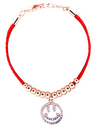 The new Han edition bracelet Cartoon accessories smiling face bracelet for women Red string act the role ofing is tasted