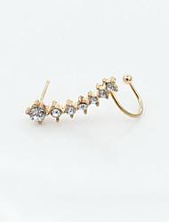 Earring Stud Earrings Jewelry Women Alloy / Cubic Zirconia / Gold Plated 1pc Gold