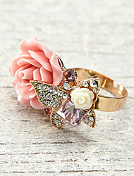 Women's Alloy Ring Crystal/Rhinestone Alloy