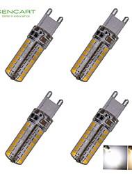 Lampadine a pannocchia 64 SMD 3020 SENCART T G9 6 W Decorativo 550-650 LM Bianco caldo / Luce fredda 4 pezzi AC 220-240 / AC 110-130 V