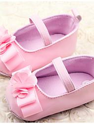 Zapatos de bebé - Planos - Casual - Semicuero - Rosa / Rojo