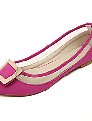 Women's Shoes Flat Heel Pointed Toe Flats Casual Purple/Red