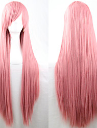 longs cheveux raides perruque 80cm anime nouvelle cosplay rose