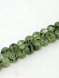 Beadia 39Cm/Str (Approx 48PCS) Natural Prehnite Beads 8mm Round Genuine Green Stone Loose Beads DIY Accessories
