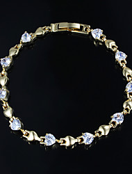 Hot Selling Party Gold Plated Link/Chain Bracelet Jewelry Display