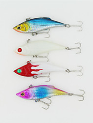 75mm 10g Colors Plastic Vibration Fishing Lures with 6# Hooks