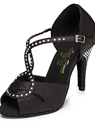 Zapatos de baile (Negro) - Salsa - No Personalizable - Tacón de estilete