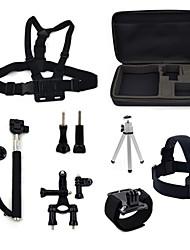 ourspop gp-K22 9-in-1 kit di accessori per GoPro eroe 4 3 + / 3/2/1 telecamera