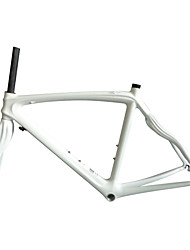 Neasty Brand 700C Full Carbon Fiber Frame and Fork White Color Painted 50/52/56CM