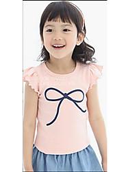 Katoen - Zomer - Girl's - T-shirt - Mouwloos