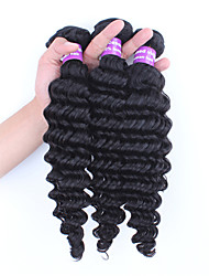 3pcs Lot Unprocessed Brazilian Virgin Hair Deep Wave  Human Hair Extensions Natural Black Hair Weaves