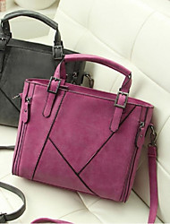 Women's The New Fashion Frosted Leather Shoulder Stitching