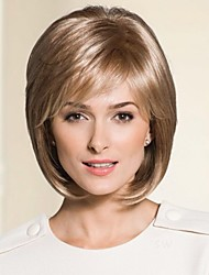 moyenne sans bouchon de haute qualité longueur droites mono top perruques remy vierge de cheveux humains 8colors à choisir