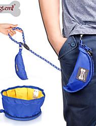 Dog Bowls & Water Bottles Pet Bowls & Feeding Waterproof / Portable / Foldable Black / Green / Blue / Gray Terylene
