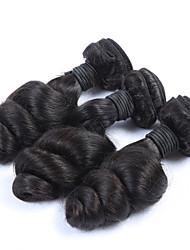 "3Pcs/Lot+10""-30""+Mongolian (Italian)Virgin Remy Hair+ color(natural black)+Loose wave"