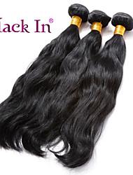 """3 pcs lote 12 """"-30"""" ondulação natural virgem jet tramas do cabelo brasileiro remy preto tecer cabelo humano emaranhado livre"""