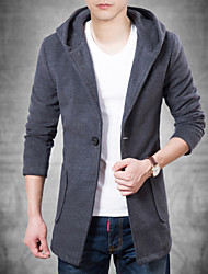Men's Casual Fashion Long Sleeve Long Coat