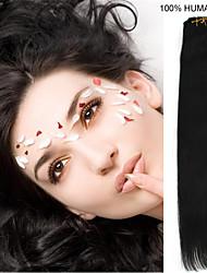 26inch 7pcs / set 120g clip-in hair remy human hair extensions 5 kleuren voor vrouwen schoonheid