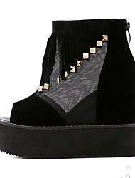 Women's Shoes Synthetic Wedge Heel Wedges Sandals Outdoor Black