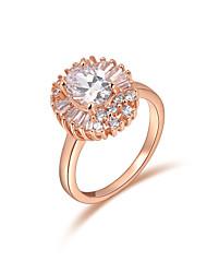 z & clássico x® rosa zircão ouro anéis Declaração partido / diária