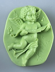 Music Angel  Soap Mold  Fondant Cake Chocolate Silicone Mold, Decoration Tools Bakeware