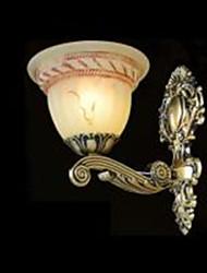 luzes de parede 220v cor bronze retro clássico europeu