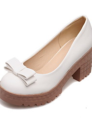 Women's Shoes  Low Heel Round Toe Loafers Office & Career/Dress Blue/Pink/White/Beige