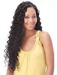 em estoque 10-30inch 100% profunda onda cabelo humano brasileiro cor natural dianteira do laço peruca&u peruca parte