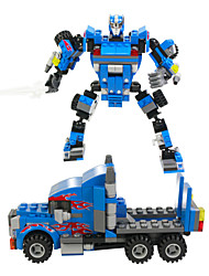 204 pcs blocos, transformador, guerreiro&carros, ação figuras brinquedos clássicos, treinar hands-on habilidade&desenvolvimento