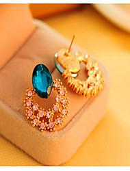 Pendiente ( Piedra Preciosa y Cristal Vintage