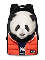 FOR U DESIGNS Unisex Panda Imitation Show Polyester Sports Laptop Backpacks