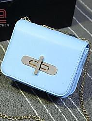 handcee® venta caliente sencilla mujer del diseño de la PU bolso crossbody con la cadena