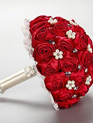 Fleurs de mariage Rond Pivoines Bouquets La Fête / soirée Satin Env.23cm