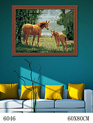 DIY Digital Oil Painting  Large Size Without Frame  Family Fun Painting All By Myself     The Horse Ranch 6046