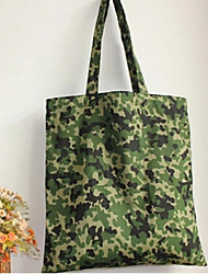 Women 's Canvas Shopper Shoulder Bag - Green